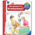 Titelseite des Buchs: Ein Kind im Krankenbett mit den Eltern.