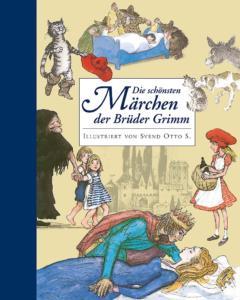 Titelseite des Buchs: verschiedene Zeichnungen zeigen Szenen aus Märchen.