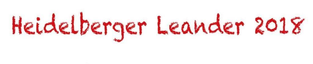 Schriftzug in rot mit der Einladung zum Heidelberger Leander 2018